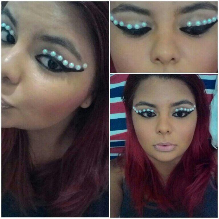 #conceitual #artística  #make #aplicação #pérolas maquiagem maquiador(a)