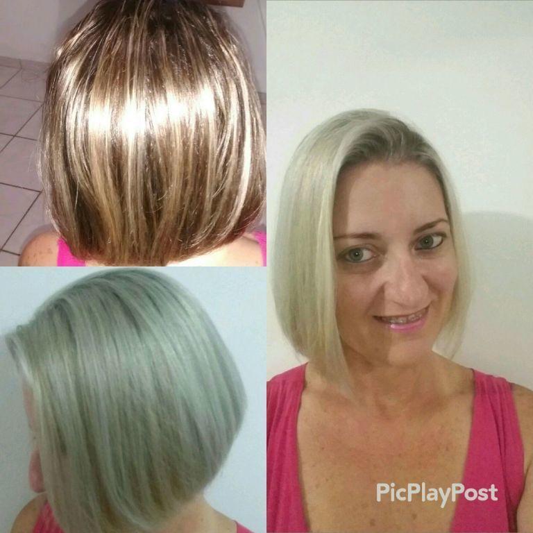 Luzes platinado cabeleireiro(a)