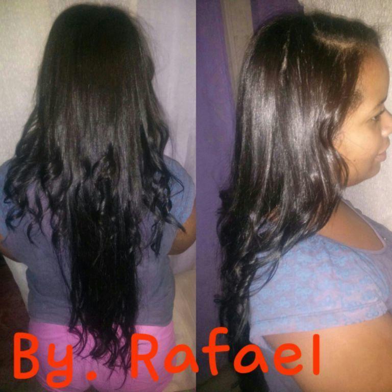 Escova e Chapinha. cabelo auxiliar cabeleireiro(a)