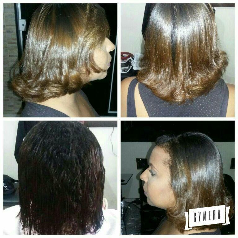 Reconstrucao capilar corte escova e prancha. cabelo cabeleireiro(a)