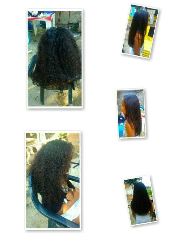 Progressiva com formol escova e prancha. cabelo cabeleireiro(a)