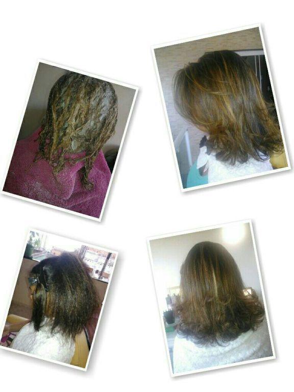 Reflexo na touca hidratação escova e prancha. cabelo cabeleireiro(a)