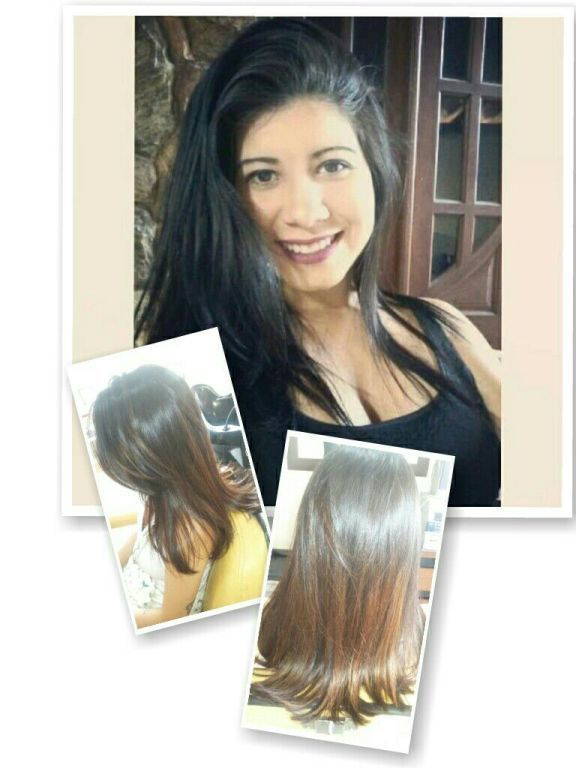 A pedido da cliente um ombre HAIR com poucas luzes. Hidratacao escova e prancha. cabelo cabeleireiro(a)