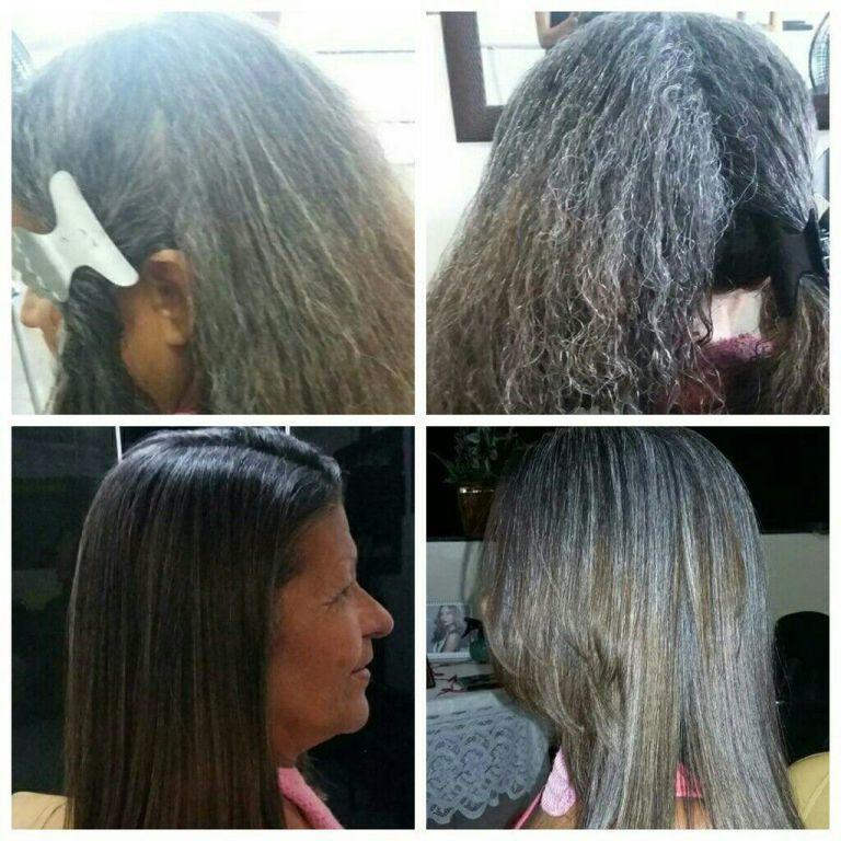 Progressiva corte escova e prancha. cabelo cabeleireiro(a)