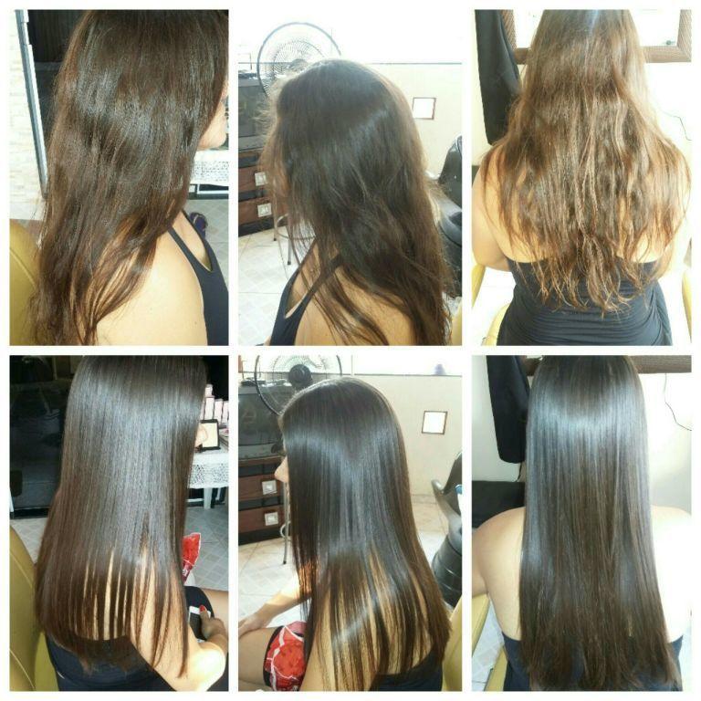 Botox capilar escova e prancha cabelo cabeleireiro(a)