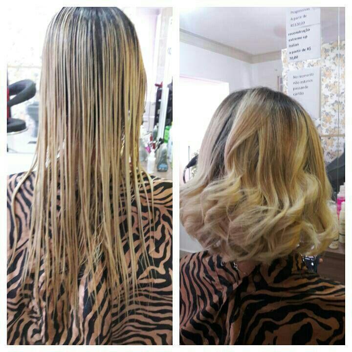 Corte long  bob  finalizado com mira cirl cabeleireiro(a)