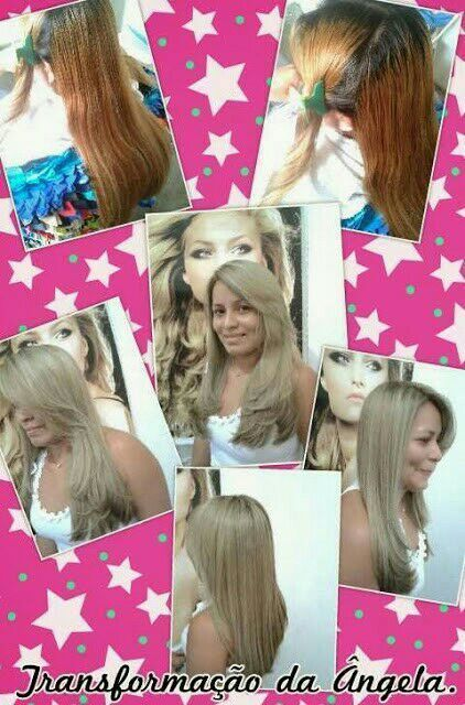 Transformação da minha cliente Ângela. Tonalizei todo o cabelo, depois fiz mechas. Cortei e escovei. cabeleireiro(a)