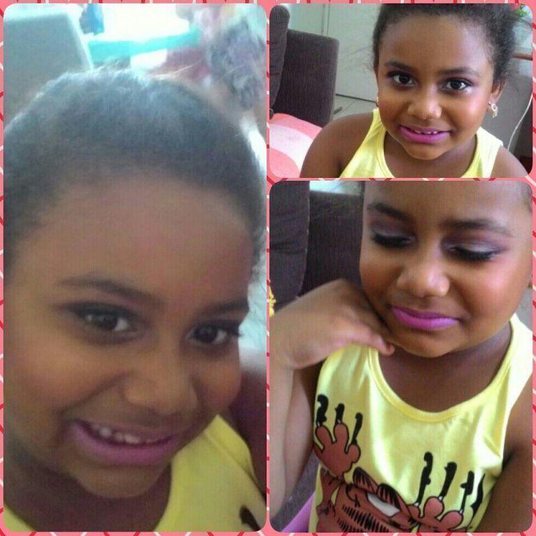 Modelo mirim !  #kids #make #pelenegra maquiagem maquiador(a)