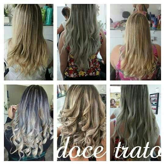 Vários tons de mechas peroladas, platinadas cabelo cabeleireiro(a)