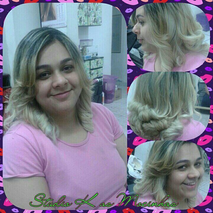 Corte e escova modelada cabelo cabeleireiro(a) maquiador(a) cabeleireiro(a)
