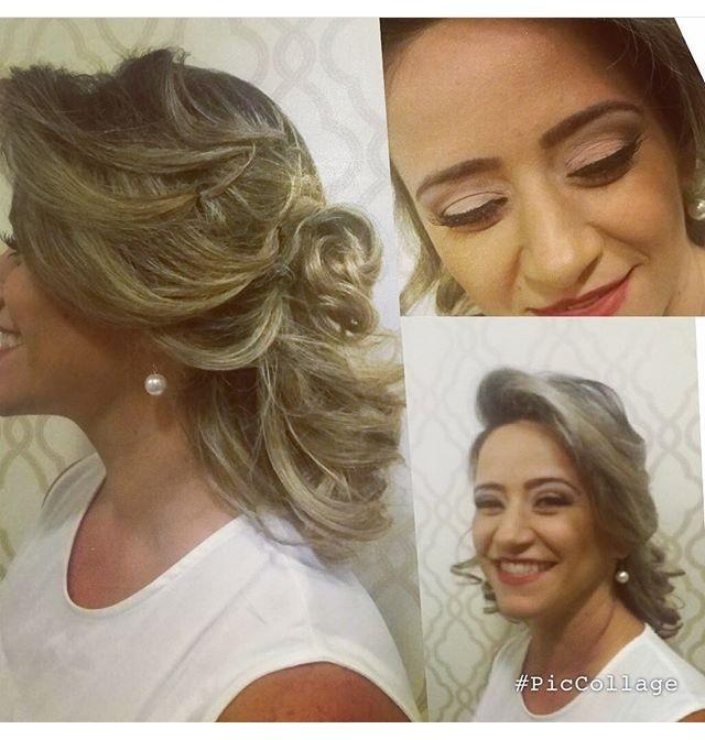 Penteado e Make festa. cabelo cabeleireiro(a) maquiador(a)
