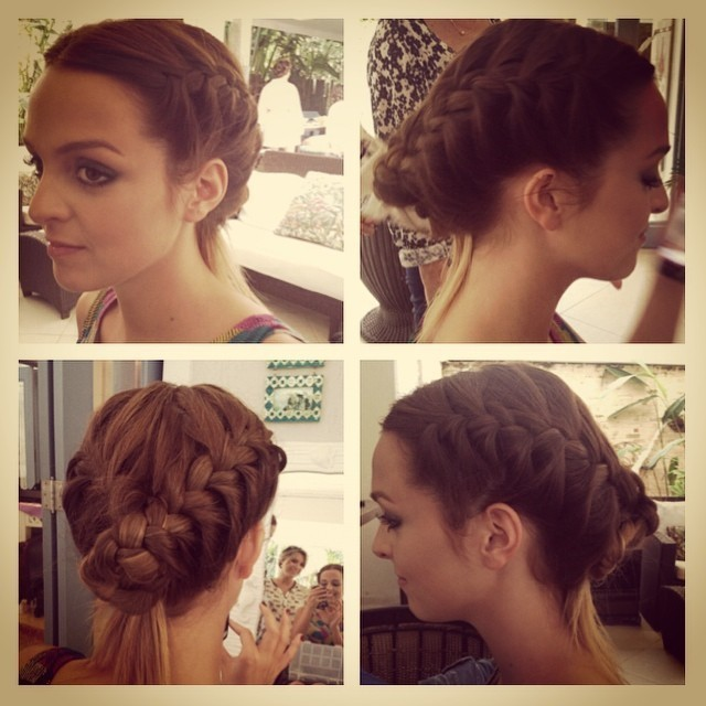 penteado tranca  evento : casamento na praia /dia maquiador(a) cabeleireiro(a)