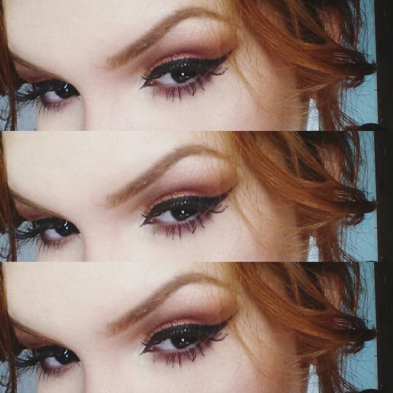 #makeup #maquiagem #beleza #smokeyeye #delineadogatinho #cíliospostiços #cateye #ruiva maquiador(a)