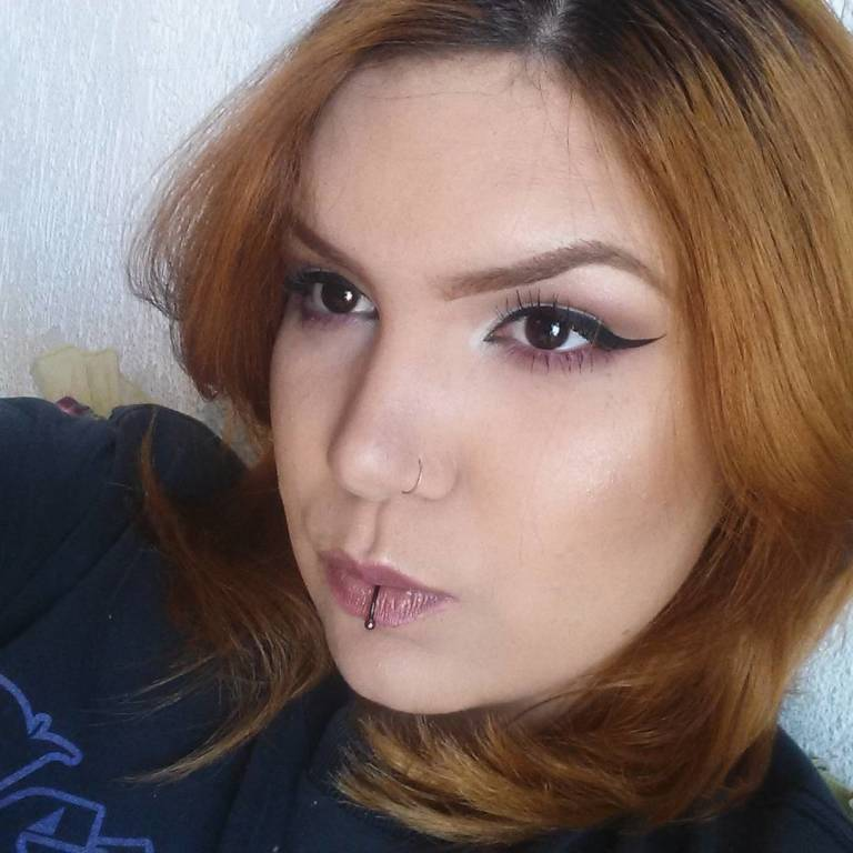 #makeup #beauty #ruiva #maquiagem #maquiadora #delineadogatinho maquiador(a)