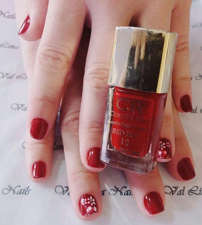 CR RED HOT unha manicure e pedicure