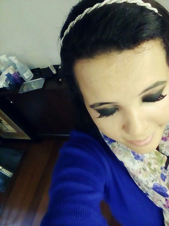 Degradê em tons de Preto  Cílios postiços maquiagem maquiador(a)