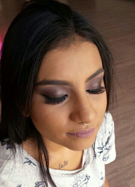 Make #esfumado cinza bat9m L.A Splash maquiagem maquiador(a) designer de sobrancelhas