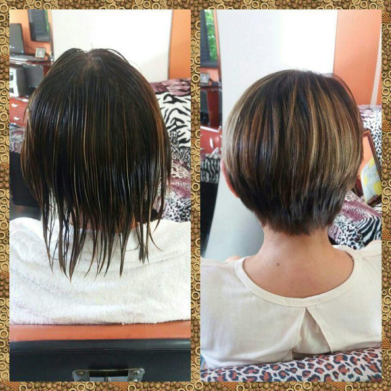 Para quem gosta de um curtinho tá aí um antes e depois. cabelo cabeleireiro(a)