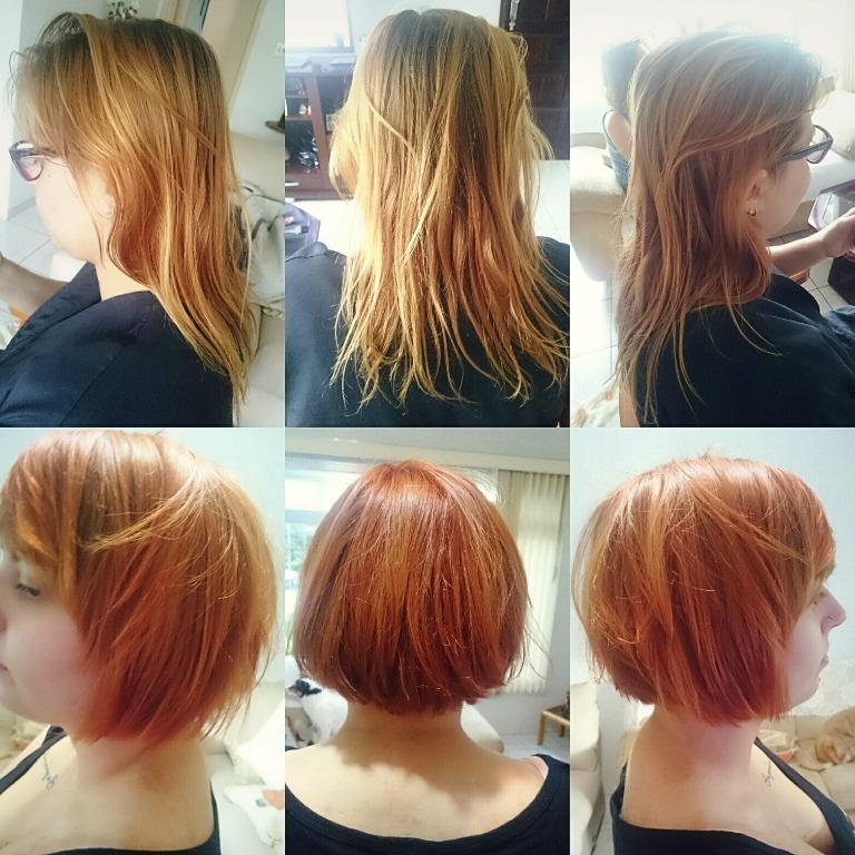 #hair #haircut #gingerhead #gingerhair #ginger #transformation #job #tranformacao #cortedecabelo #cabelos #ruivos #cabelosruivos cabelo cabeleireiro(a) stylist / visagista maquiador(a) designer de sobrancelhas
