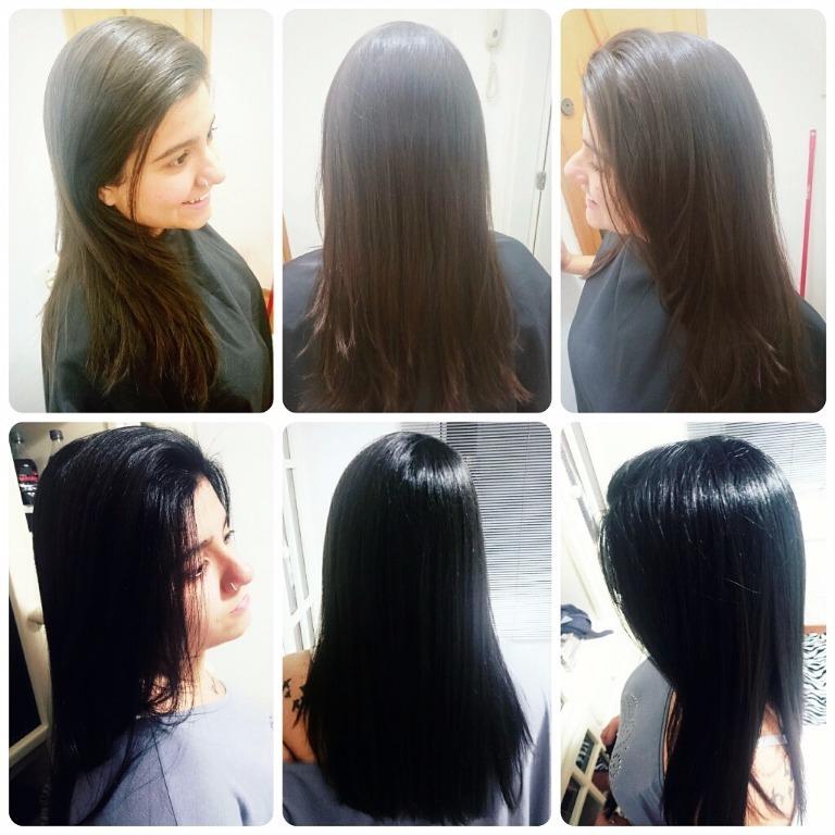 #brunette #blackhair #transformation #hair #haircut #cabelos #cabelosfemininos #cabelopreto  cabelo cabeleireiro(a) maquiador(a) designer de sobrancelhas
