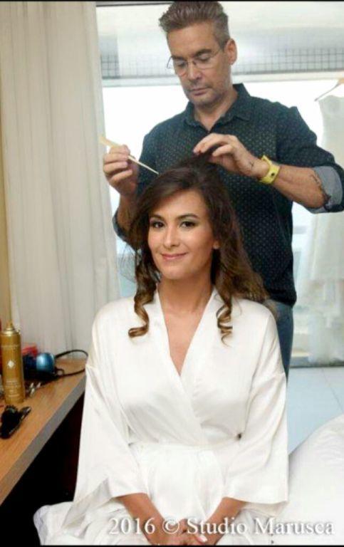 Preparando minha Noiva Camila outros cabeleireiro(a)