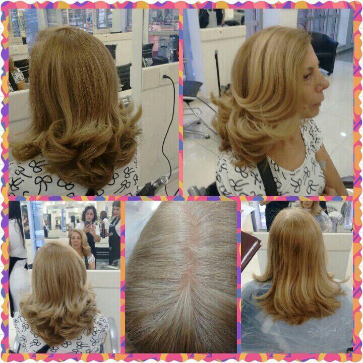 Retoque de raiz e esvova modelada cabelo cabeleireiro(a)