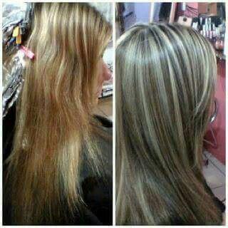 Mechas + progressiva cabelo cabeleireiro(a)
