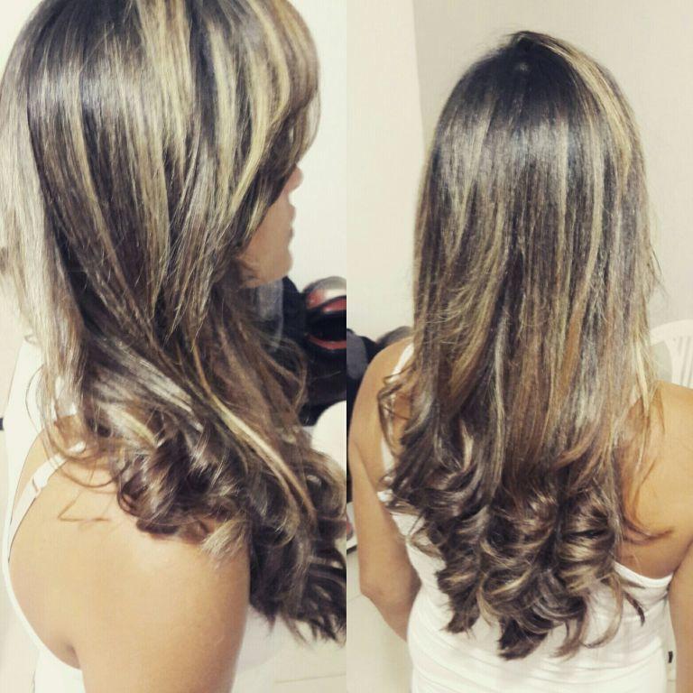 Hidratação  + escova  @janncoiffeur cabelo auxiliar cabeleireiro(a) cabeleireiro(a)