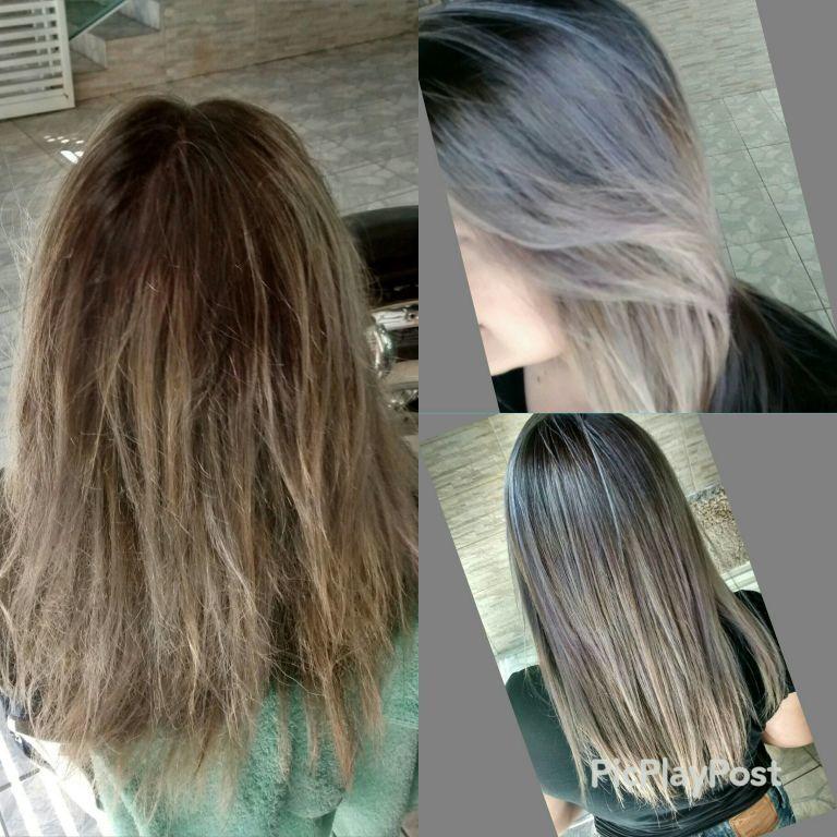 Progressiva + matização cabeleireiro(a)