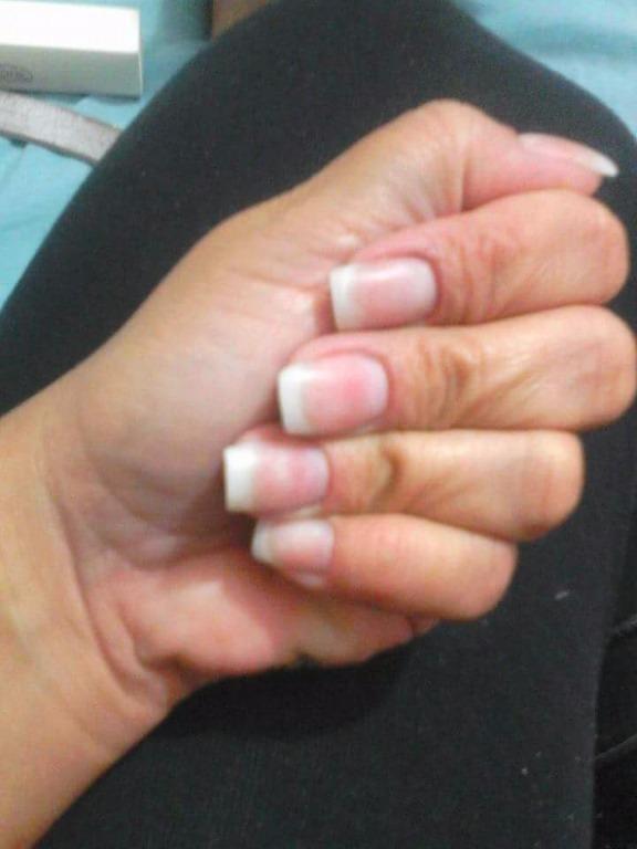 Unhas de gel manicure e pedicure