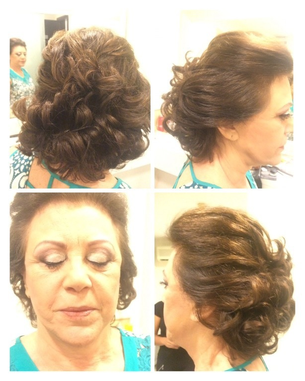 Semipreso cacheado e Make Pele madura. cabelo cabeleireiro(a) maquiador(a)