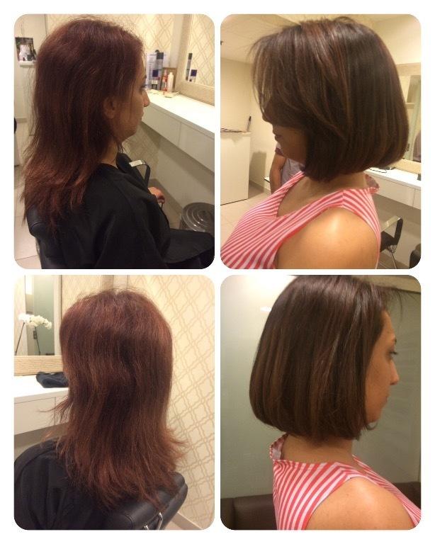 Corte, cor e botox capilar cabelo cabeleireiro(a) maquiador(a)