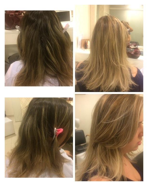 Retoque de luzes. cabelo cabeleireiro(a) maquiador(a)
