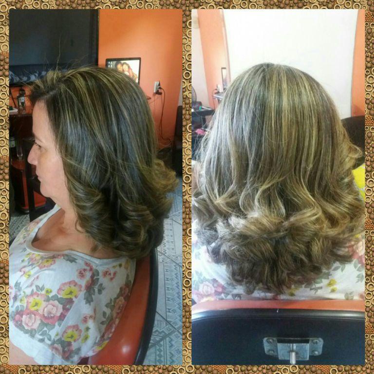 Luzes tradicionais. cabelo cabeleireiro(a)
