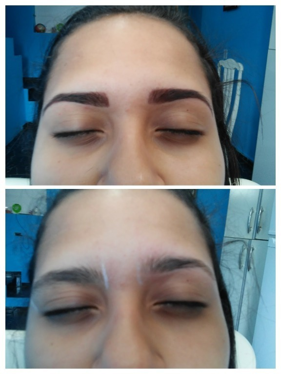 Trabalho feito com henna designer de sobrancelhas micropigmentador(a)