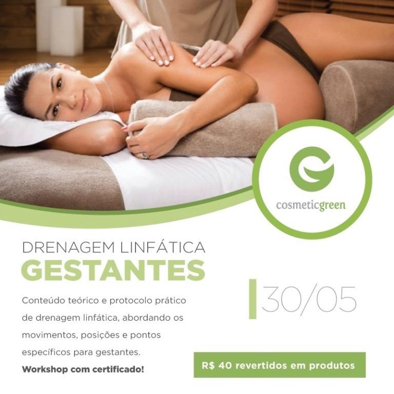 Workshop de Gestantes dia 30/05! Participe!  CONHEÇA NOSSAS LOJAS   Encontre a Cosmetic Green mais próxima de você! Amparo - SP  T. 19 3808-1816 | WhatsApp 19 98218-5959 | 19 99269-5936 amparo@cosmeticgreen.com.br Camaquã - RS  T. 51 3671 6105 | Whatsapp 51 9806-4433 camaqua@cosmeticgreen.com.br Campo Grande - MS  Rua Rio Grande do Sul, 1201 | Jd. dos Estados | Campo Grande | MS  T. 67 3042 1222 | Whatsapp (67) 9924-8060 campogrande@cosmeticgreen.com.br Jundiaí - SP  T. 11 2449-3032 | Whatsapp 11 97294-4579 | jundiai@cosmeticgreen.com.br Londrina - PR  T. 43 3354-5170 | WhatsApp 43 9995-1551 londrina@cosmeticgreen.com.br Manaus - AM  Rua Acre, 450 | Loja 2 | Conjunto Vieiralves | Manaus | AM  T. 92 3348-9411 | WhatsApp 92 98121-6220 manaus@cosmeticgreen.com.br Niteroi - RJ  Rua Gavião Peixoto, 70 | Loja 207 | Icaraí | Niterói | RJ  T. 21 3619-1938 | WhatsApp 21 99896-1508 niteroi@cosmeticgreen.com.br São Paulo - Moema - SP  T. 11 3938-6289| Whatsapp 11 99212-2290 moema@cosmeticgreen.com.br São Paulo | Tatuapé  Rua Apucarana, 975 | Tatuapé | São Paulo | SP  T. 11 2368-0356 | WhatsApp 11 97615-6557 tatuape@cosmeticgreen.com.br Ribeirão Preto - SP  Avenida 13 de Maio, 1056 | Jardim Paulistano | Ribeirão Preto| SP  T. 16 3236-8060 | Whatsapp 16 997756607 | ribeiraopreto@cosmeticgreen.com.br São Luís - MA  T. 98 3256-0415 | Whatsapp (98) 8155-2810 saoluis@cosmeticgreen.com.br Vitória - ES  Rua Carlos Martins, 459 | Jardim Camburi | Vitória | ES  T. 27 2142-0139 | WhatsApp 27 99600-5700 vitoria@cosmeticgreen.com.br  consultor(a) esteticista