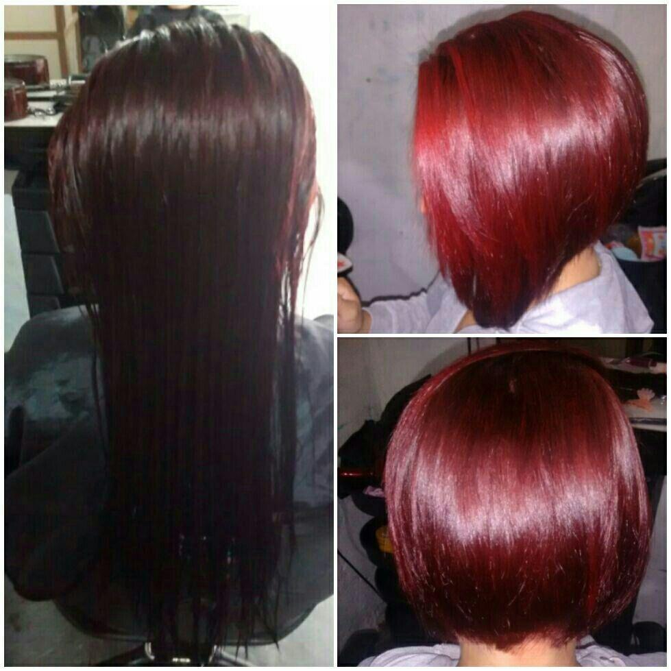 Corte Chanel com pontas e matizado com 0. 6 da amend cabelo cabeleireiro(a)