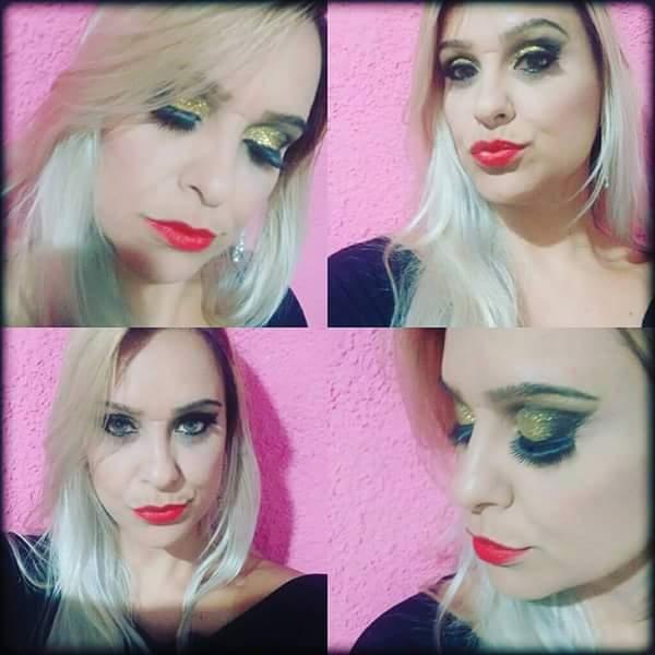 Makeup com Glitter   maquiador(a)