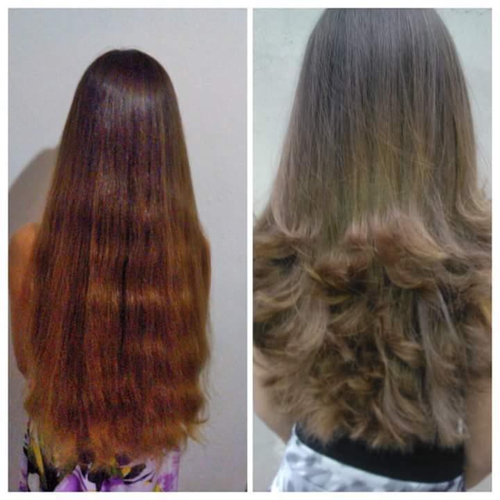 Corte camadas. cabelo auxiliar cabeleireiro(a)