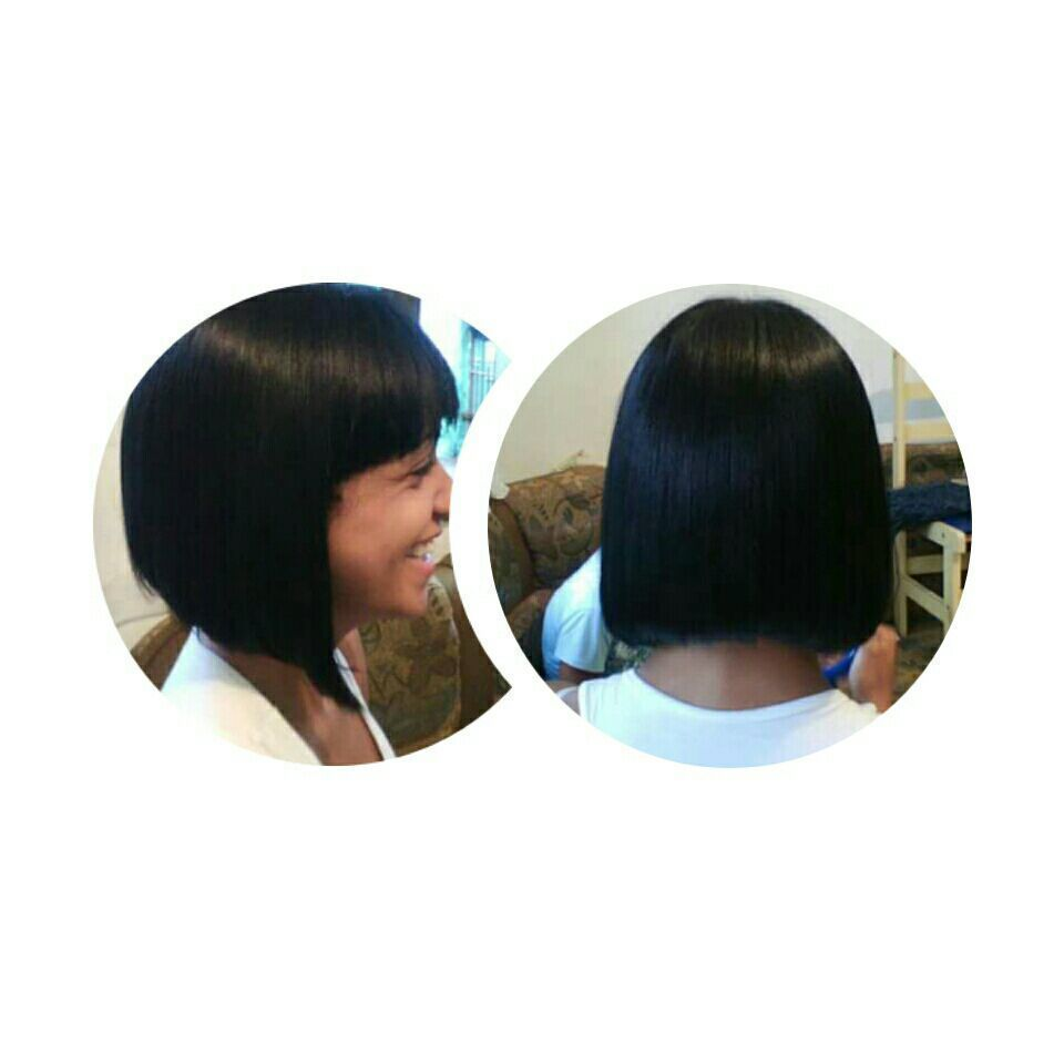 Chanel de bico com franja. cabelo cabeleireiro(a)