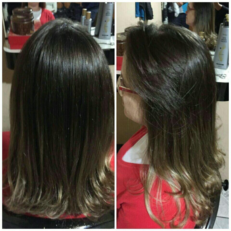 Hidratação mairibel e escova. cabelo cabeleireiro(a)