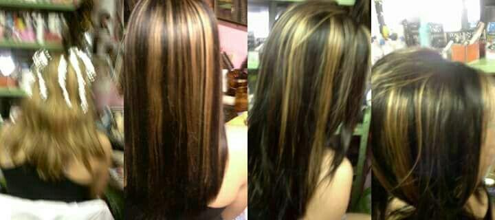 Luzes invertidas cabelo cabeleireiro(a)