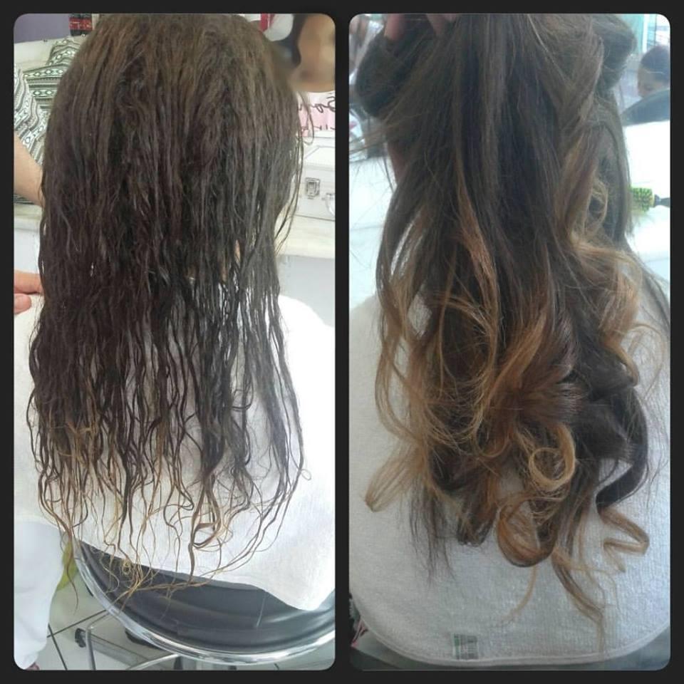 Escova progressiva cabelo estudante (cabeleireiro)