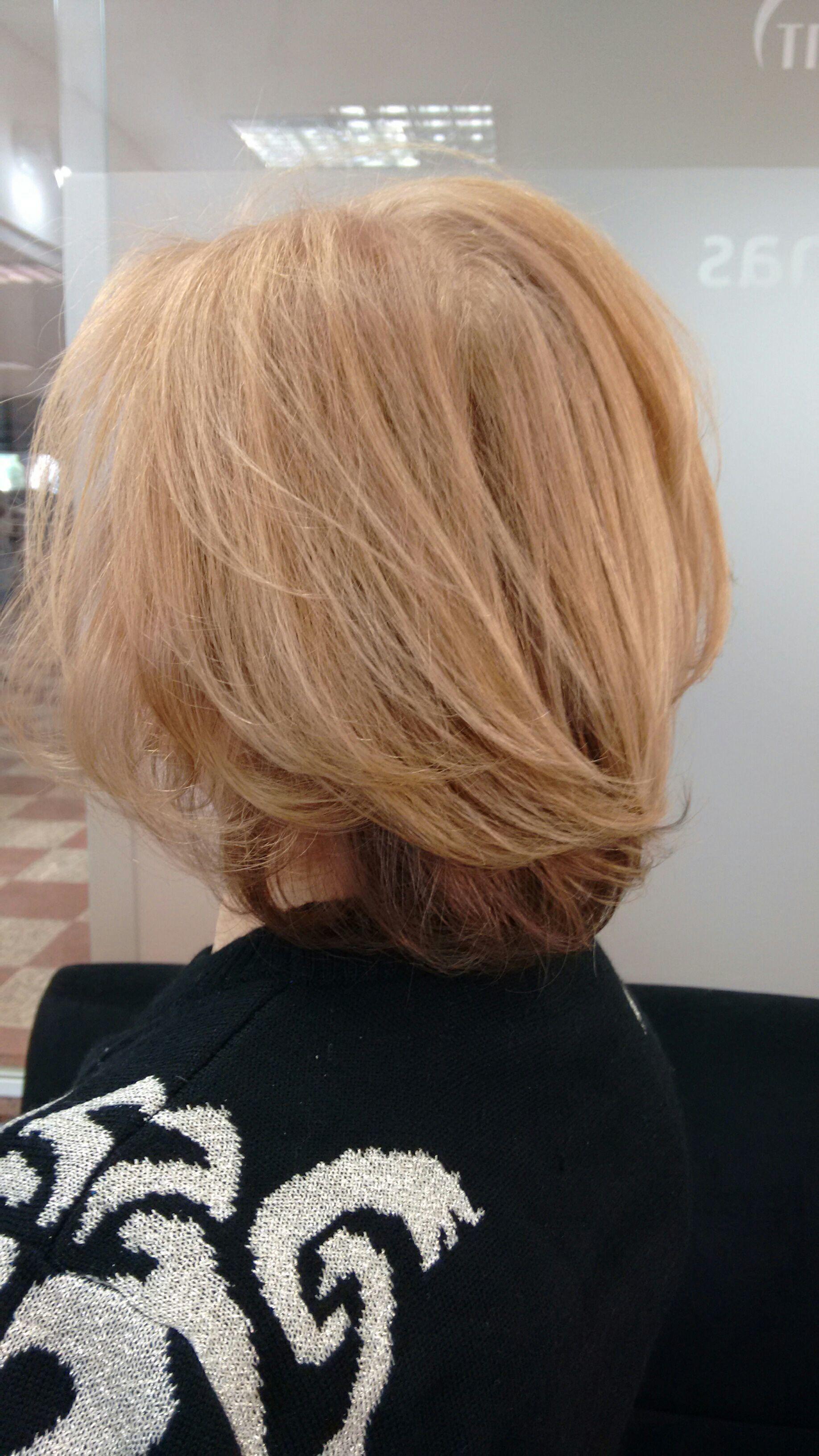 Coloração do cabelo em duas cores. cabelo cabeleireiro(a)
