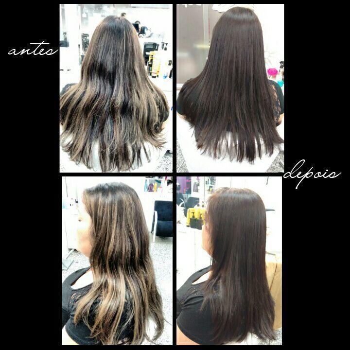 Correção de cor, repigmentação e devolução da cor natural. cabelo cabeleireiro(a)