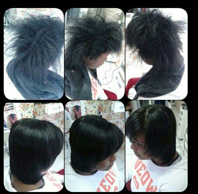 Escova progressiva +corte cabelo recepcionista auxiliar cabeleireiro(a) manicure e pedicure