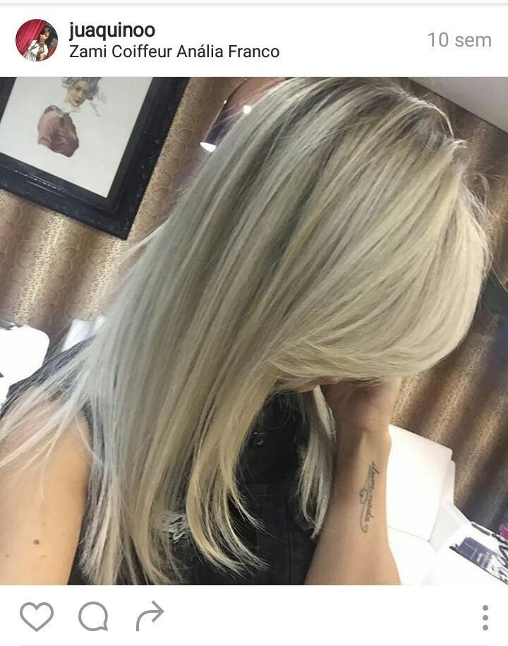 LOIROS...  Cabelo da linda Thata Sartori do domingo show!  #loiro #cabelodossonhos #elasqueremomelhor #byjuaquino cabelo cabeleireiro(a)