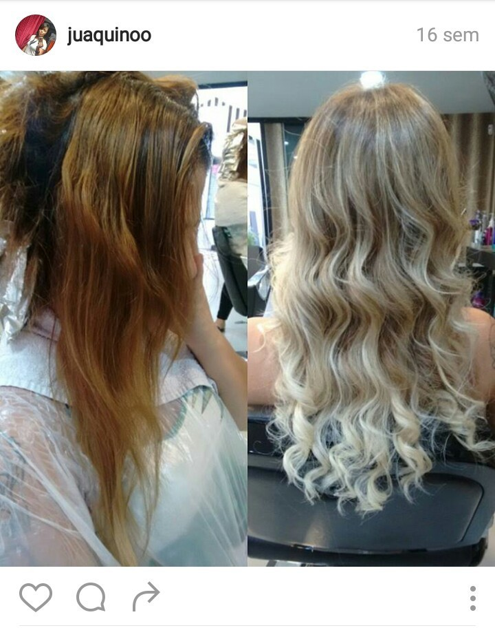 Transformação bapho.. Correção das cores indesejadas e pontas claras. #elasqueremamelhor #elasquerem #juaquino cabelo cabeleireiro(a)