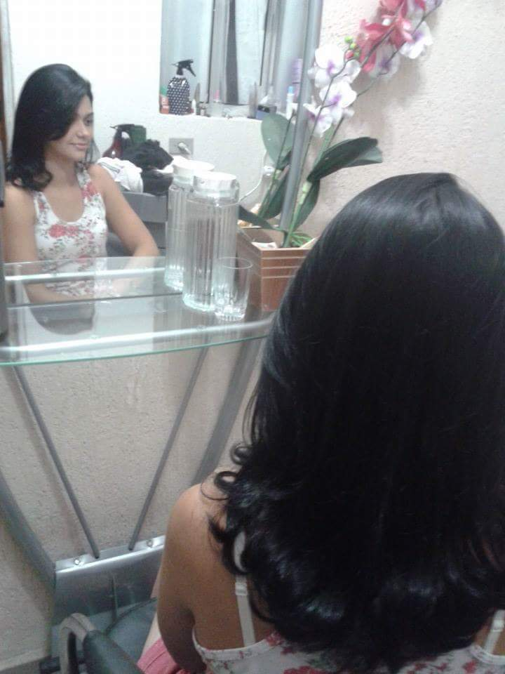 Corte e escova cabelo