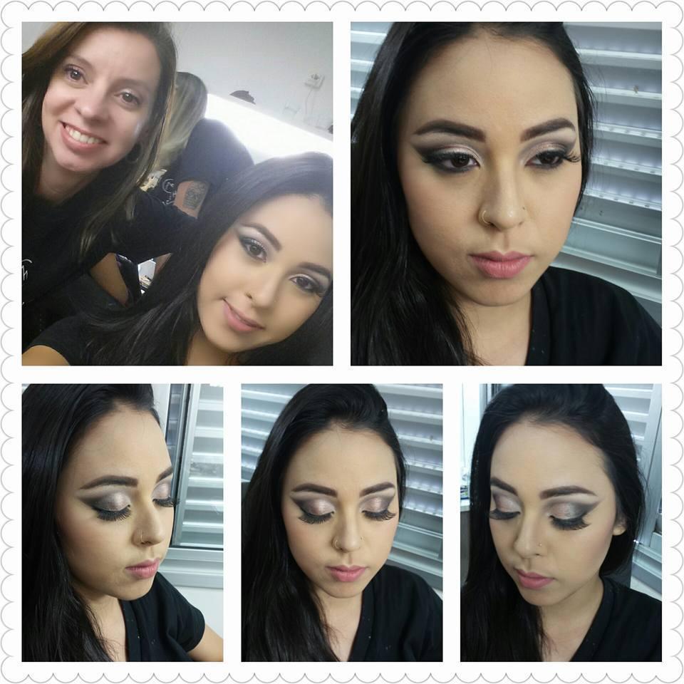 Foto tirada durante o Curso Especialização em Olhos em Catharine Hill em nov/2015. #Formatura maquiagem maquiador(a)